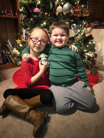 Kid's at Christmas