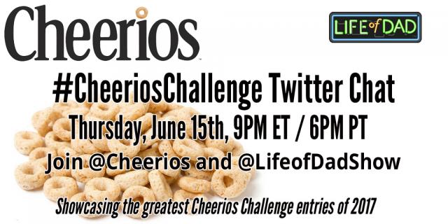#CheeriosChallenge Twitter Chat